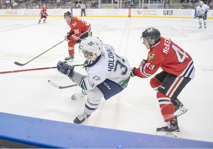 Seattle Thunderbirds:  Winterhawks oust Scrappy T-Birds from Playoffs