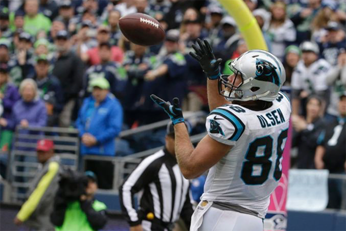 Panthers' tight end Greg Olsen catches game winning TD pass