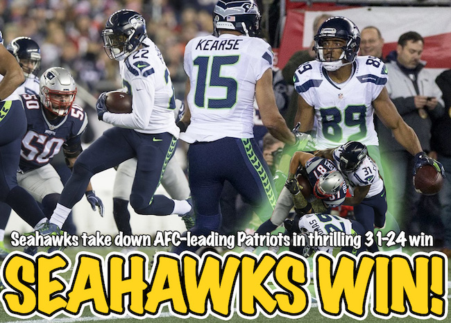 Seahawks take down Patriots 31-24 on Sunday Night Football