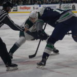 Everett Silvertips face off against the Seattle Thunderbirds - Xfinity Arena (Image courtesy SSU's Brian Kemp)