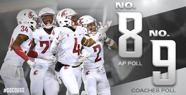 Wazzu hits #8 in the polls! Can they keep the momentum on the road against Cal?
