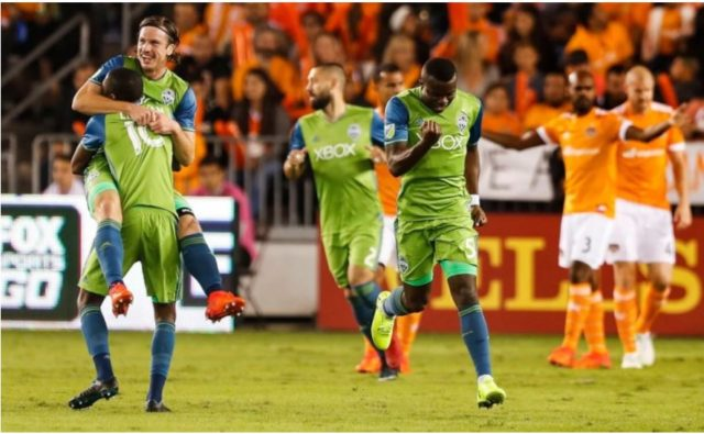 Your reigning MLS Champs stop the Dynamo in the 1st leg of the Western Conference Finals, Sounders win 2-0