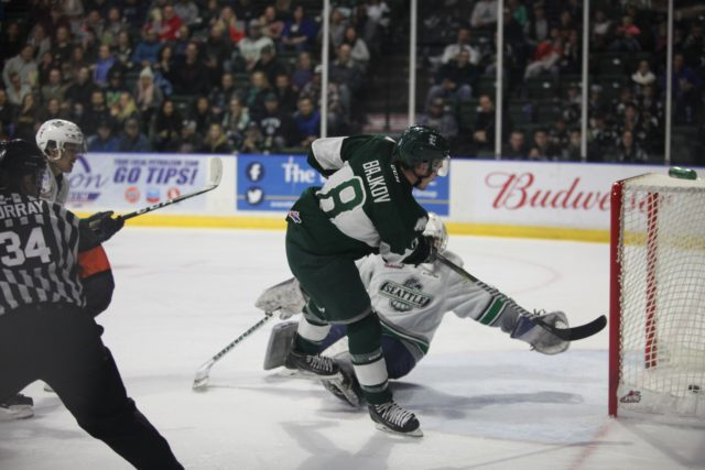 Bajkov climbs to #2 as all-time points leader fo the Silvertips, leads Everett to win over Seattle