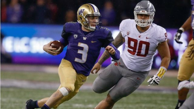 Huskies spoil Cougar's Pac-12 title hopes in a 41-14 beatdown